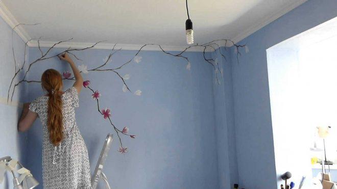 Имитация растений на стенах