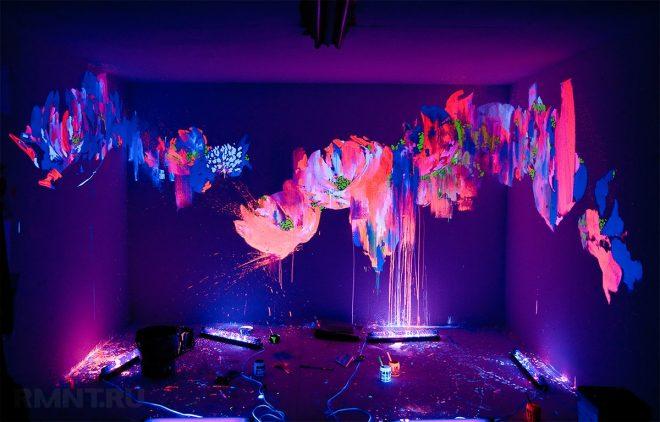 Флуоресцентные и люминесцентные краски
