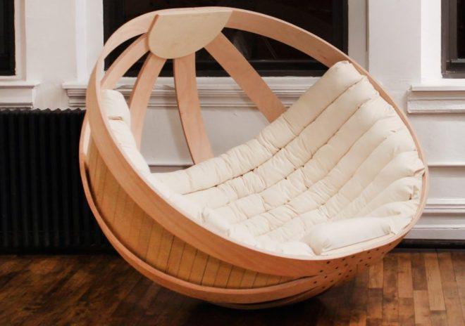 Круглое кресло-лежанка
