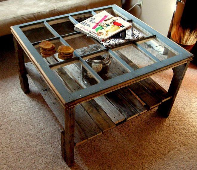 Журнальный столик из старых рам