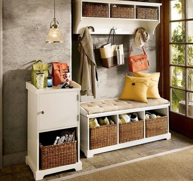 Шкафчики с корзинками для хранения
