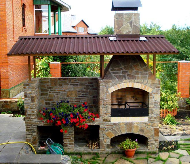 Печка с крышей