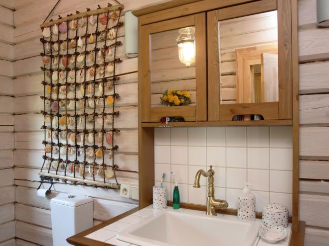 Ванная комната с морским декором