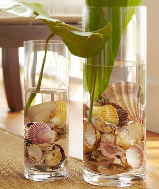 Ракушки в стаканах