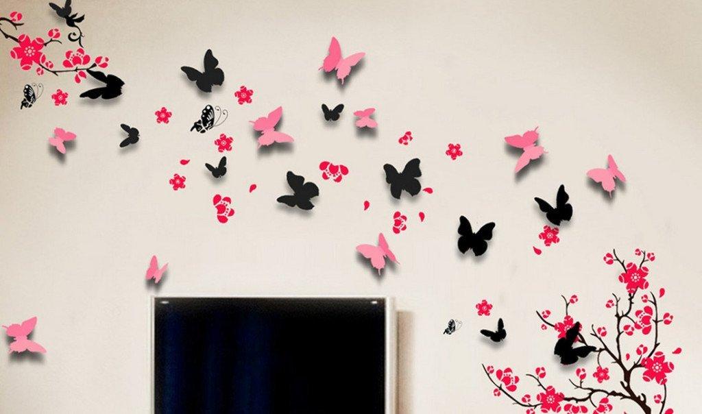 Картинки для зала украшения цветочки с бабочками