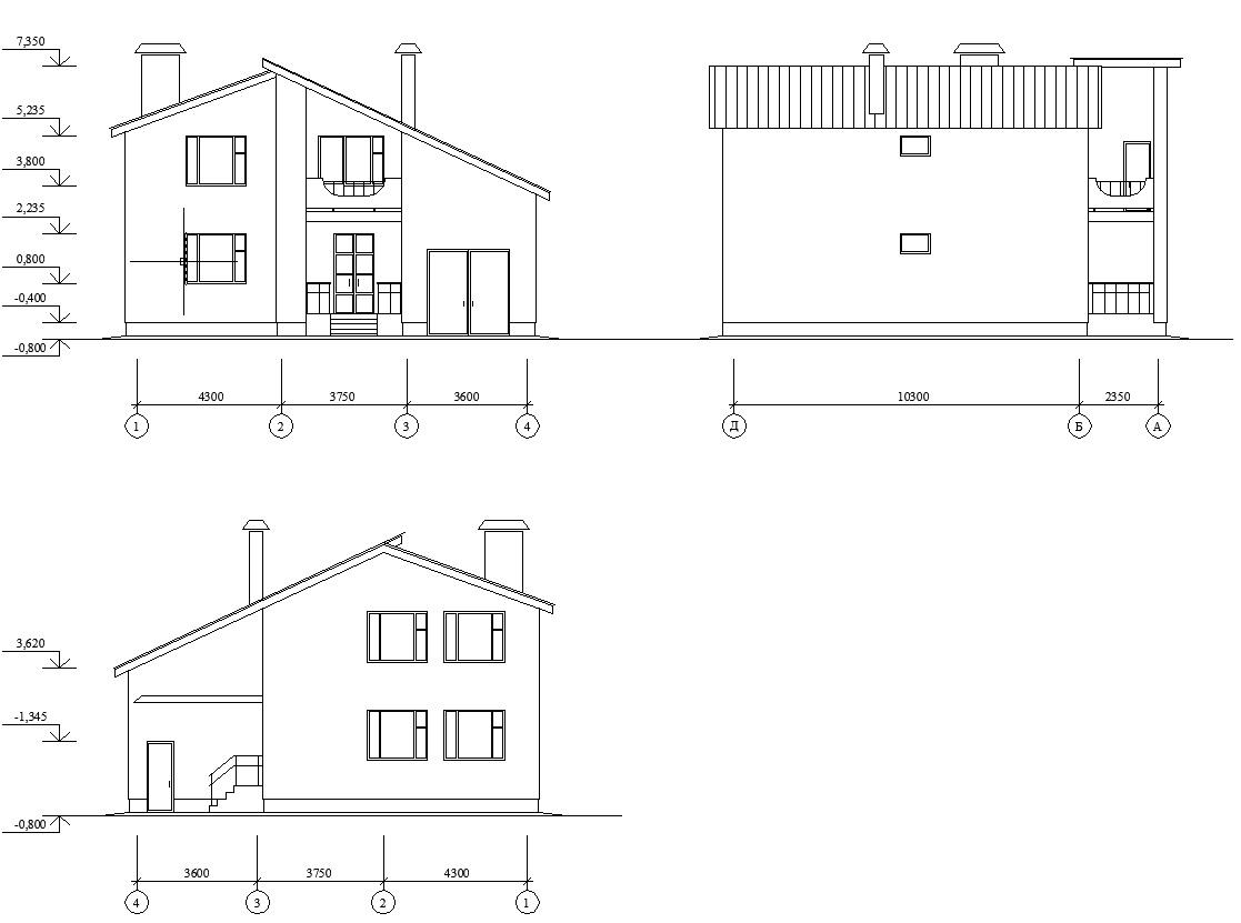 Размеры домов на чертежах в картинках