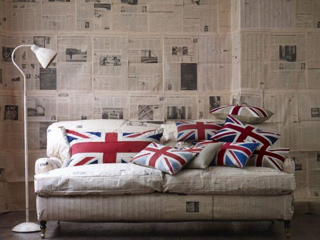 Флаг Британии на декоративных подушках