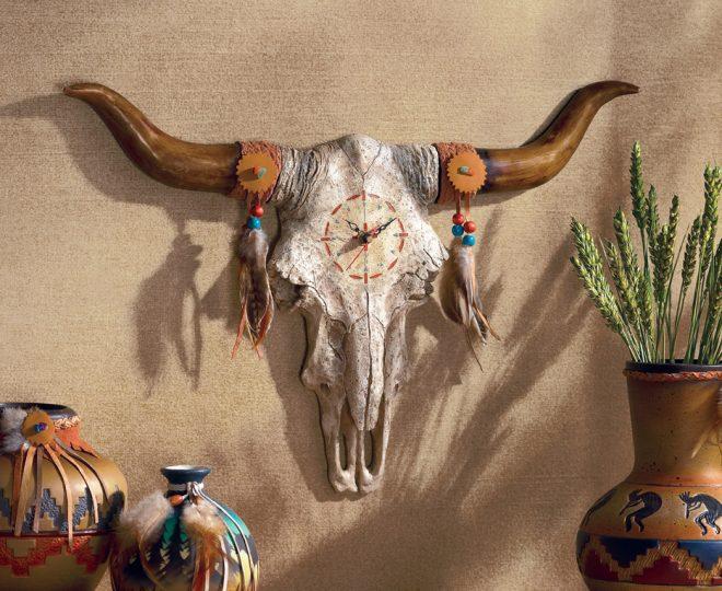 Декорированый череп бизона