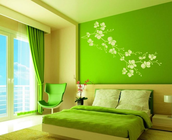 Оформление в цветах весенней зелени