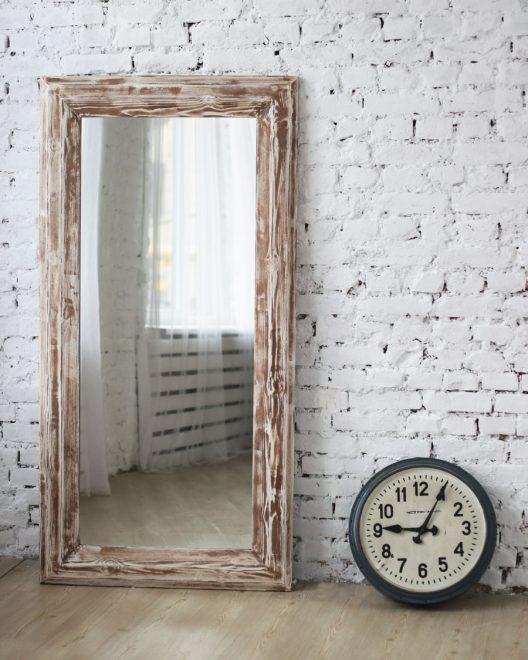Напольное зеркало для стиля лофт