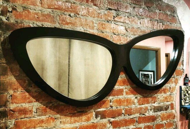 Зеркало в виде очков