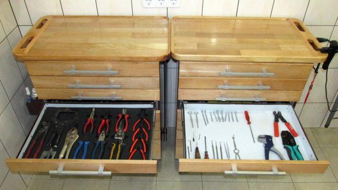 Тумбы для инструментов