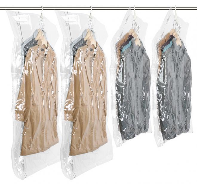 Хранение верхней одежды в вакуумных мешках