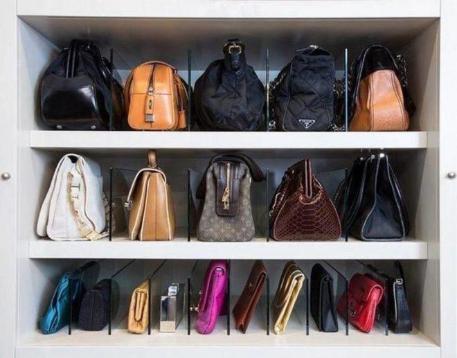 Полка с разделителями для сумок