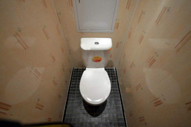 ПВХ-панели на стенах в туалете