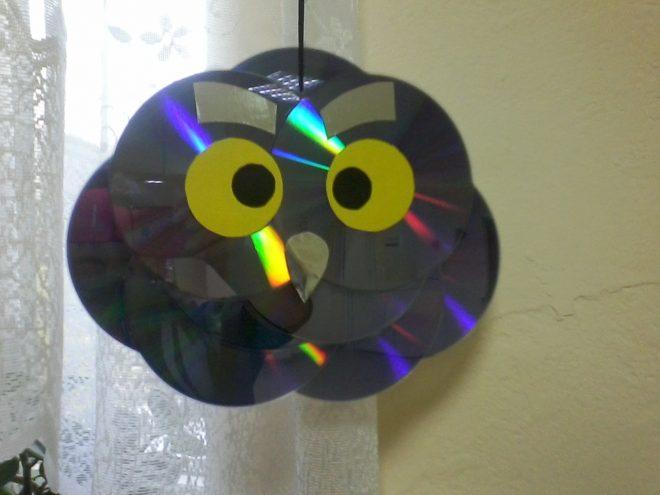Сова из старых дисков