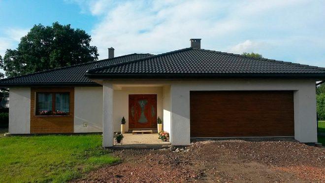 Одноэтажный дом с гаражом