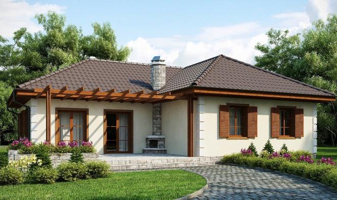 Практичный одноэтажный дом