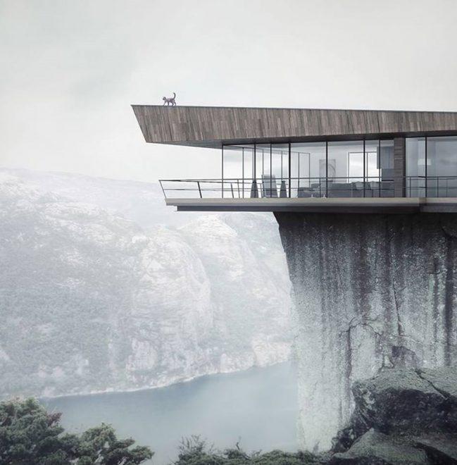 Дом на краю скалы