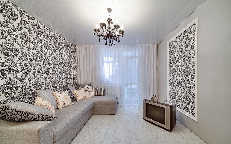 ремонт квартиры обои дизайн фото разные стены интриги кидаю