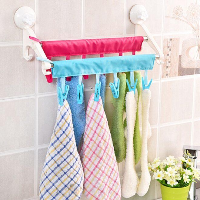 Прищепки для полотенец в ванной