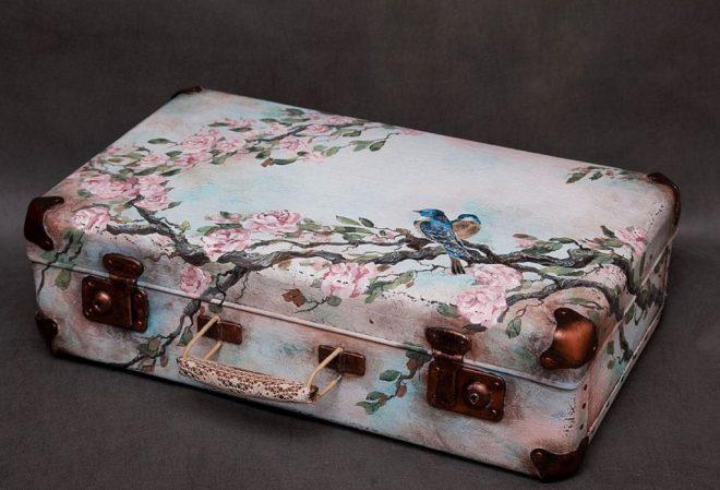 декор чемоданов своими руками