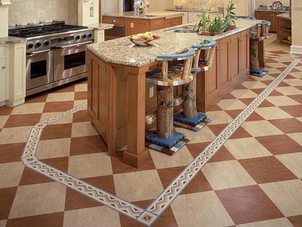 красивый линолеум на кухню
