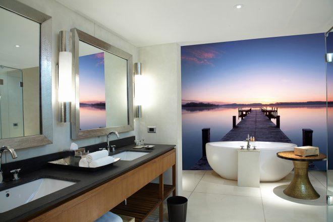 Фотообои в ванной комнате