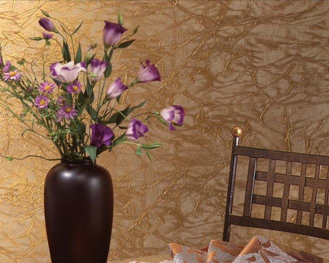 Шёлковое покрытие стен