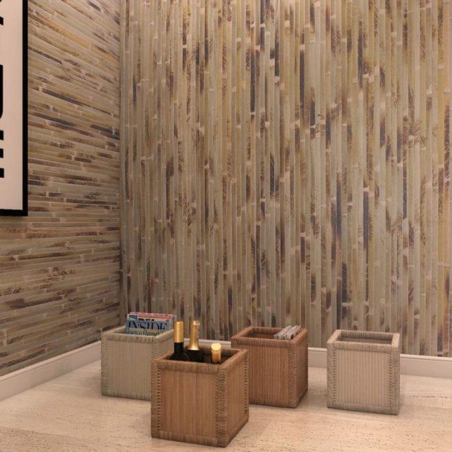 Природные материалы в отделке стен