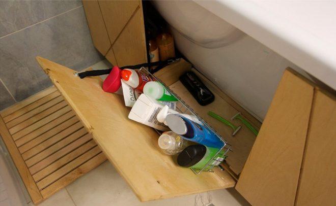Хранение под ванной