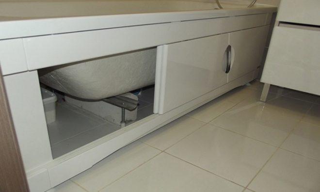 Место для хранения под ванной
