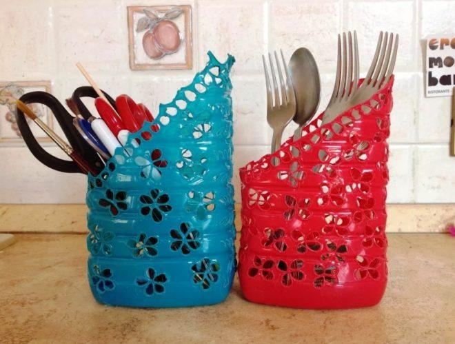 Поделки для кухни из пластиковых бутылок