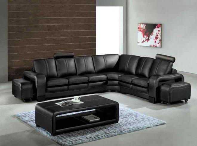 Чёрная мебель в интерьере