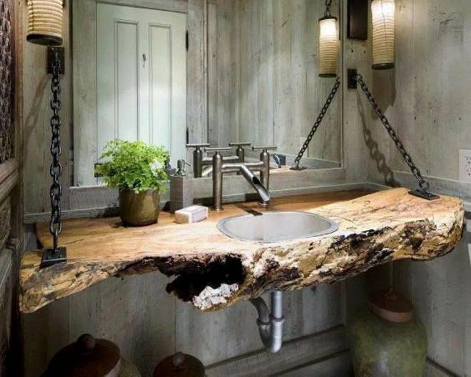 Стол из слэба для ванной комнаты