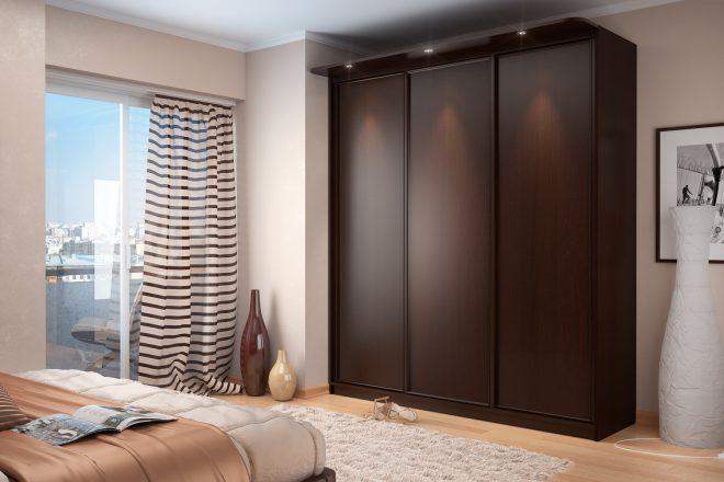 коричневый шкаф в интерьере