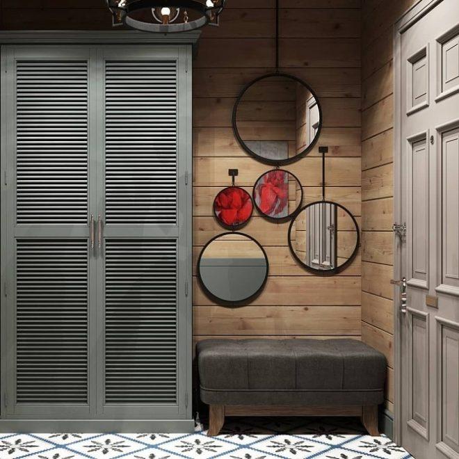 оригинальный интерьер тамбура в квартире