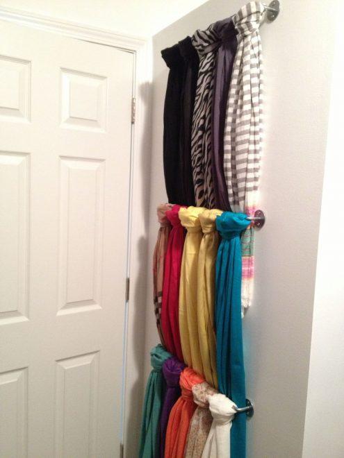 хранение шарфов