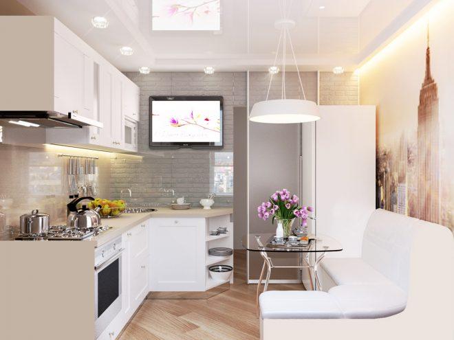 обои для маленькой кухни зрительно увеличивающие пространство