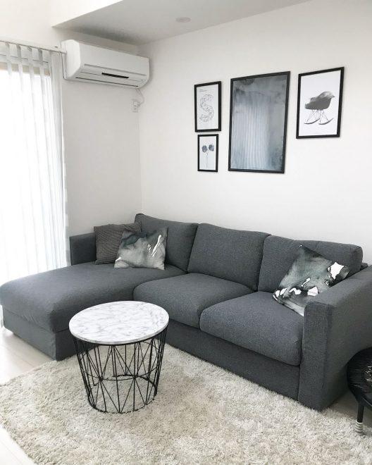 Серый диван Икеа