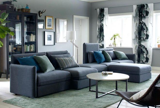 Серый диван-трансформер от Икеа