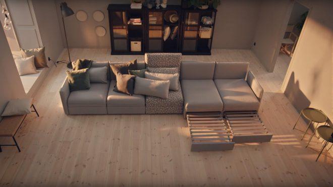 Раскладывающийся диван от Икеа