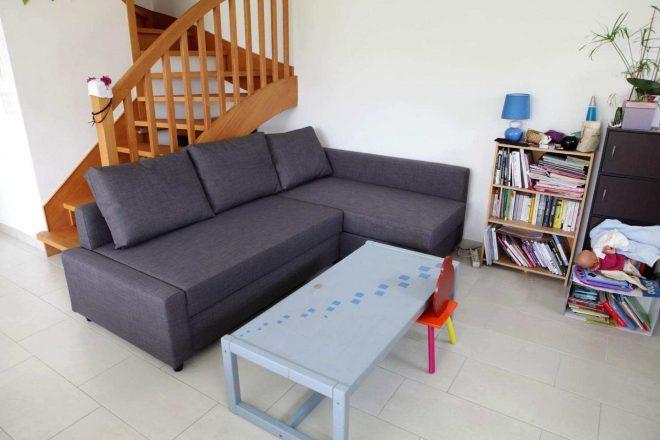 Серый угловой диван Икеа