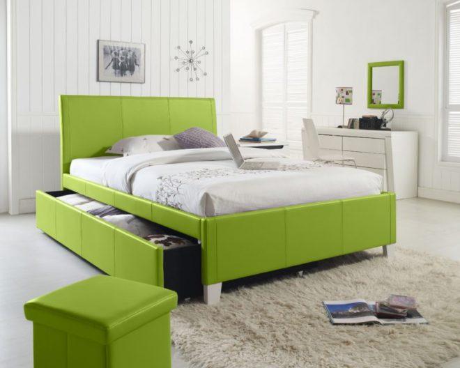 зеленая мебель для спальни