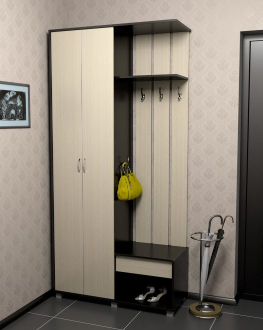 Шкаф для одежды в маленькой прихожей