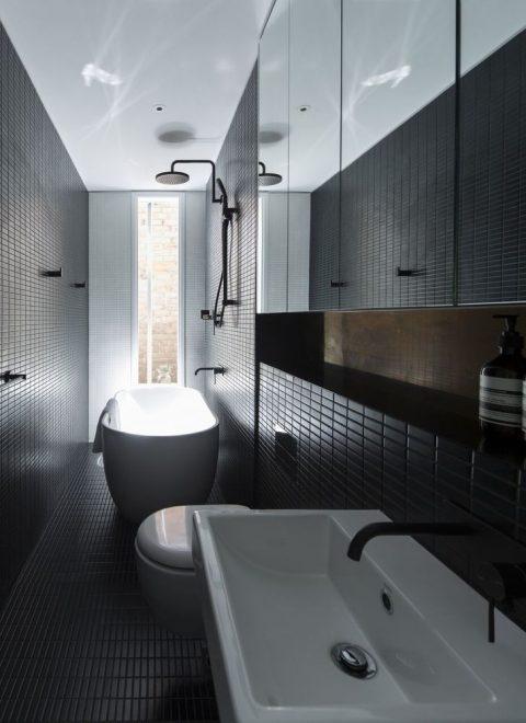 узкие ванные комнаты идеи дизайна
