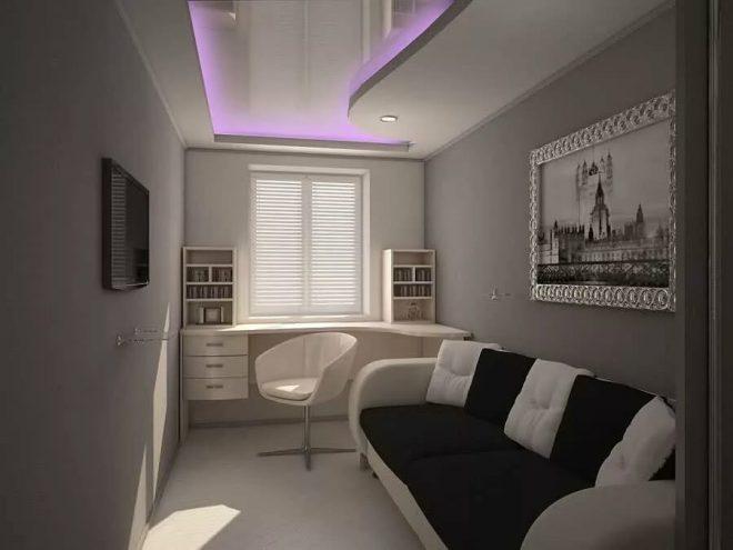 Дизайн длинной и узкой комнаты хрущёвки