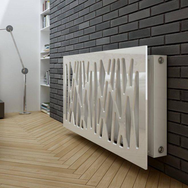 Декоративная панель для батареи в интерьере