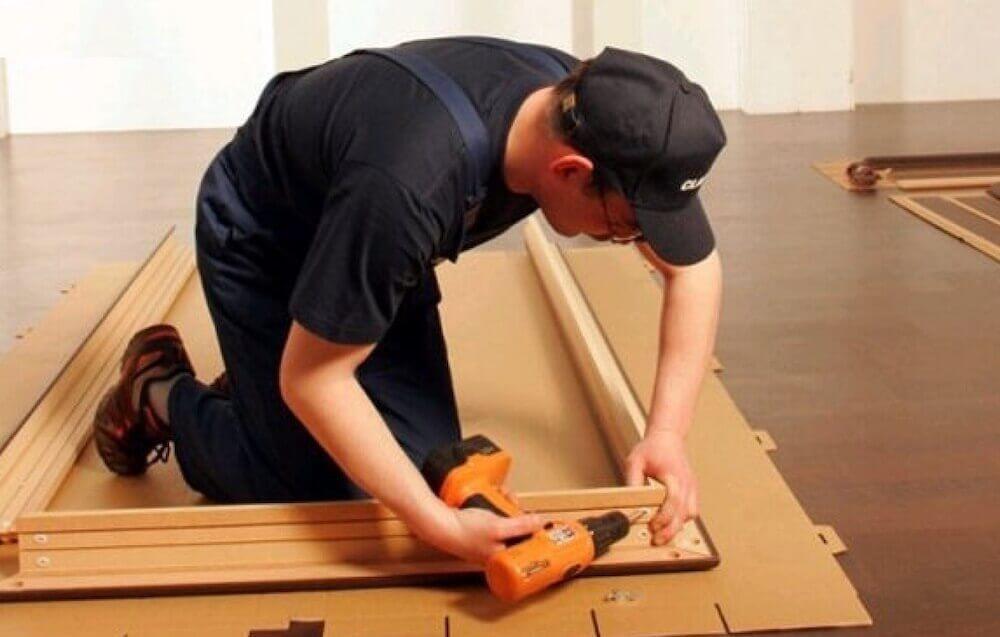 Сборка дверной коробки